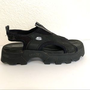 Skechers Y2K Black Chunky Athletic Sandals